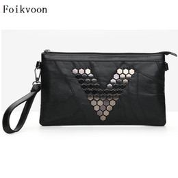 Blue Color Ladies Shoulder Handbag NZ - Foikvoon Crossbody Bags For Women Fashion PU Leather Girls Shoulder Bags Solid Color Rivet Ladies Handbags
