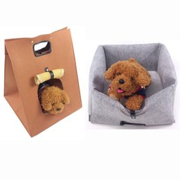 Dog Carrier Cover Canada - 1 Pc Wholesale Cat Carrier Walking Handbag Carrier Bag Love Pet Puppy dog Bed Cover Multi Function Cat Products
