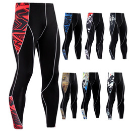 tight jogging pants UK - Men compression Skin tights Leggings Run jogging Gym workout Crossfit Bodybuilding male Bottom MMA trousers fitness sports pants