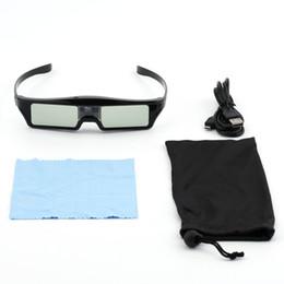 Venta al por mayor de Freeshipping Nuevo 3D IR Gafas de Obturador Activo Para BenQ W1070 W700 W710ST DLP-Link Proyector Promoción Caliente