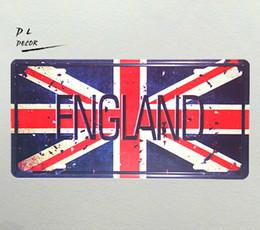 $enCountryForm.capitalKeyWord UK - DL- ENGLAND MAP License plate Metal Poster Room Home Decor Retro Sticker Wall Tin Sign