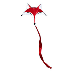 Polyester tissu 95 cm x 80 cm Sport en plein air Red Fox Flying Kite Tail Toy Enfants Enfants Jeu en plein air Activité