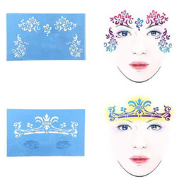 Painting Faces Australia - 7pcs Festival Makeup Soft Face Paint Stencil Body Art Template Airbrush Flower Painting Stencils Face Glitter Tattoo Reusable