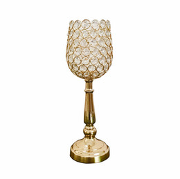 $enCountryForm.capitalKeyWord Australia - 6pcs lot Gold Silver color crystal beaded flower stand candlestick candelabra candle holder wedding table centerpieces crystal decor vase