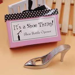 Discount designer shoes baby 6pc Bottle Opener High Heels Shape Alloy Tool Wedding Party Birthday Baby Shower Favor Gift Souvenirs Shoe Bottle Opener