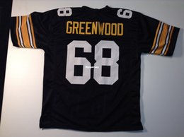 4144755fc91 Cheap Retro custom Sewn Stitched #68 L.C. Greenwood Black MITCHELL & NESS Jersey  Throwbacks Men's Football Jerseys