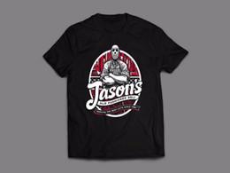 Custom Print T Shirt Cheap Australia - Friday The 13Th *Jasons Deli Oldskool Custom Artwork* Men's T-Shirt *Full Front* Cheap Crew Neck Men's Top Tee