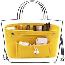 GaraGe storaGe orGanizers online shopping - Obag Felt Cloth Inner Bag Women Fashion Handbag Multi pockets Cosmetic Storage Organizer Bags Luggage Bags Accessories