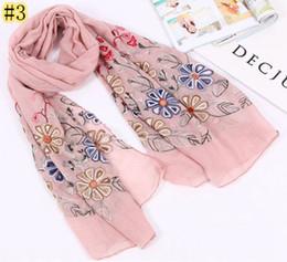 e9582823b Free shipping 180 75 cms cotton viscose scarf fashion shawl Embroidery scarves  Muslim Hijab New shawls retail wholesale