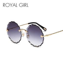 $enCountryForm.capitalKeyWord NZ - ROYAL GIRL Round Sunglasses Women New Fashion Rimless Trimming Sun Glasses Female Brand Blue Pink Gradient Oculos UV400 SS039