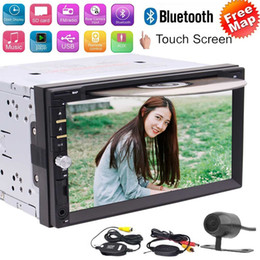 aux stereo system Australia - Free wireless Reverse Camera!! Double 2 Din Car DVD CD Stereo autoadio New UI WinCE Operation System Bluetooth DVD Radio USB TF AUX