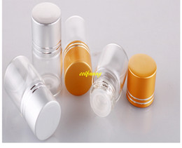 8ml glass bottles Canada - 500pcs lot 8g Glass Essential Oil bottle With Plug insert 8ml Cosmetic sample Vial Container Eye cream massage bottle