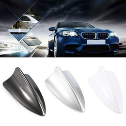 $enCountryForm.capitalKeyWord NZ - Cheyoule Universal Auto Roof Radio FM Signal Shark Fin Style Aerial Antenna for Most Cars SUV with FM Connection Cable