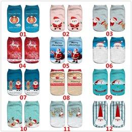 Toptan satış 20 stil Moda sevimli Yeni 3D Baskılı Desen Noel Baba Ifadeler Noel Erkekler ve Kadınlar Parti Malzemeleri Yumuşak Doku Çorap