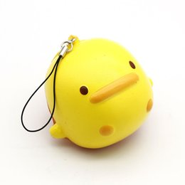 China Cute Mini Duck Mobile Phone Straps Squishy Toys Slow Rising Soft Press Doll Hand Squeeze Kids Children Toy Gift Random Color P30 cheap duck soft toys suppliers