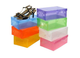 Chinese  New Arrival Transparent Stackable Crystal Clear Plastic Shoe Clamshell Storage Boxes manufacturers