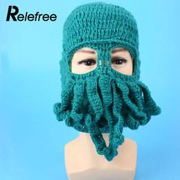 Confortável Octopus Ski Cap Chapéu Beanies Máscara De Esqui Engraçado  Inverno Acessório a8ba431af14