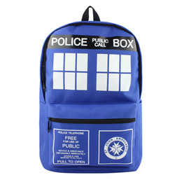 Cosplay Characters NZ - Free Shipping ! Cosplay Anime Doctor Who Backpack Creative Design High Quality Nylon School Casual Bag for Men or Women