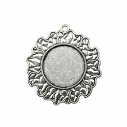 $enCountryForm.capitalKeyWord NZ - 6 Pieces Cabochon Cameo Base Tray Bezel Blank Accessories Parts Sun Cloud Single Side Inner Size 25mm Round Necklace Pendant Setting