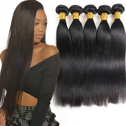 Grade Brazilian Hair Bulk UK - Grade 10A Brazilian Human Virgin Hair Bundles Straight 3or 4 Pcs Unprocessed Brazilian Virgin Human Hair Extension Peruvian Virgin Remy Hair