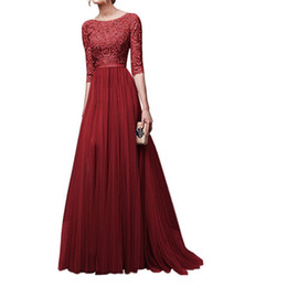 $enCountryForm.capitalKeyWord UK - 2018 Arabic LACE Prom Dresses half Sleeve Jewel Hollow Back Sweep Train Gold Appliques Illusion Bodice Long Evening Party Gowns