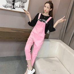 dcd586846251 2018 Women Denim Jumpsuit Harem Pants Ripped Hole Fringe Jeans Ladies  Overalls Casual Korean Fashion Slim Cotton High Waist New