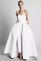 $enCountryForm.capitalKeyWord Canada - Krikor Jabotian Jumpsuits Evening Dresses With Detachable Skirt Sweetheart Prom Gowns Pants for Women Party Dresses Evening Wear Custom Made
