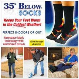 2 pcs / paire 35 ci-dessous chaussettes aluminisées Fibers chaussette garder vos pieds chauds et secs unisexe chaud chaussettes avec paquet d'Opp CCA8991 50 paires