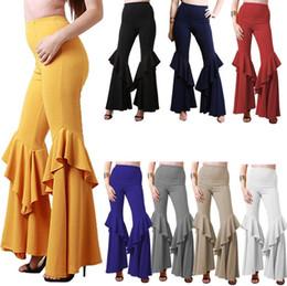 $enCountryForm.capitalKeyWord NZ - Women Wide Leg Pants flared High Waist Pleated Pants Dance Bloomers Hot Loose Palazzo Trousers Yoga women casual pants 8COLORS FFA143 5PCS