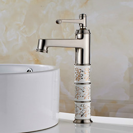 $enCountryForm.capitalKeyWord Australia - Gold Basin Faucet Bathroom Single handle Diamond And Porcelain Bathroom Sink Faucet