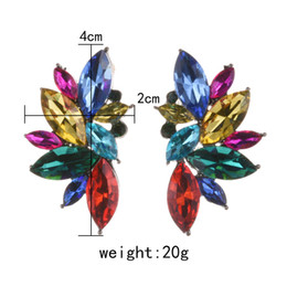 Chinese  statement PPG&PGG 2019 New Colorful Flower Big Brand Design Luxury ladies earrings designs Gem Statement Jewelry manufacturers