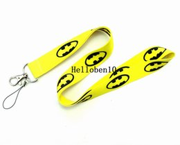 bottle lanyards UK - A lot yellow batman Key Holder Neck Strap , ID card holder,phone Lanyard