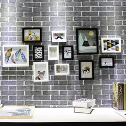 Wall Print Photo Australia - Perfect Gallery Photo Frame Wall Gallery Kit Includes: Frames, Hanging Wall Template, Decorative Art Prints