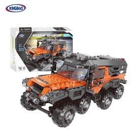 Chinese  XB03027 466Pcs New Car Series The All Terrain Vehicle Set Building Blocks Bricks Toys Educational Funny Kids Gifts Car Mode manufacturers