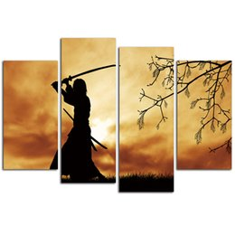 Canvas Prints For Living Room Australia - Samurai Canvas Arts For Living Room Modern Japanese samurai Wall Pictures poster and printed ArtWorks Cheap Home Decor Y18102209