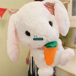 stuffed animal stuffing Canada - Dorimytrader cuddly soft anime plush bunny toy stuffed animals rabbit doll anime pillow gift for baby decoration 16inch 40cm DY61910