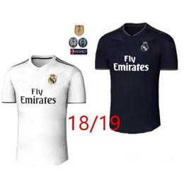 711e4aac1 Top quality 2018 Real madrid soccer Jersey 1819 RONALDO 2018 19 new home  white away black RAMOS ISCO KROOS 18 19 football shirts