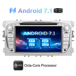 ford car dvd dash Canada - Android 7.1 Octa Core 2GB+32GB 7'' Double Din GPS car DVD Player for Ford Focus In Dash Navigation Headunit multi Radio Bluetooth