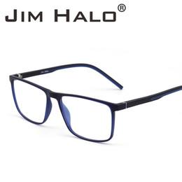 0a3dc1b412 Jim Halo Óptico Retro Marco Rectangular Ligero Muelle Bisagra Sin Receta  Lentes Claros Gafas Hombres Mujeres Gafas