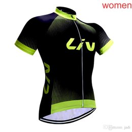 2018 LIV Jerseys de Ciclismo Estilo de Verano Para Mujeres de Manga Corta Bike Wear MTB Ropa Ciclsimo Ropa de Bicicleta de secado rápido L0901 en venta