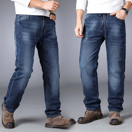 loose fit jeans for men 2019 - Desy Feeci Brand Men jeans 2018 New fashion Men Casual Relax Fit Straight Leg Stretch Jeans For Plus Size 7XL Big And Ta