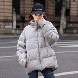 women korean winter parka coat Australia - Korean Style Parka Women 2018 Autumn Winter Gray BF Harajuku Thicken Warm Cotton Padded Coat Women Casual Zipper Outwears CO038
