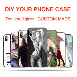 Glasses Brand Names Australia - Custom Made DIY Name Images Customized Picture Personalized Photo Tempered Glass Phone Case for iPhone X 8 8Plus 7 7Plus 6 6s Plus Galaxy S8