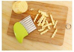 wavy cutter Australia - Cutting Strip or Slice Vegetable Cutter Stainless Steel Wavy Cutter Vegetable Carrot Slicer Potato Corrugated Knife Kitchen Tools
