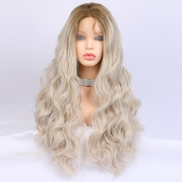 Cheap Synthetic Lace Front Wigs With Baby Hair 180 Density Long Body Wave Blonde  Wig For Black Women 36de473eb3