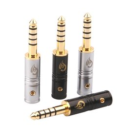 Pole Audio Jack Australia - 4pcs High Quality 4.4mm Plug Audio Jack Gold-plated 5-pole HiFi Headset Assembly Connector Adapter DIY Stereo Repair Headset Repair Jack