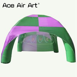 Spider tent online shopping - Pink and green color inflatable spider tent inflatable event stations air dome without lights for advertising activity