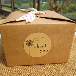 Biscuits pack online shopping - 12pcs Seal Sticker Round Thank You Dandelion Baking Biscuit Bag Label Retro Packing Decorative Stickers jx Ww