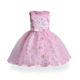 $enCountryForm.capitalKeyWord NZ - 2018 spring and summer brand new European and American girls Ice cream printing big children Ball Gown Girl fashion princess dress
