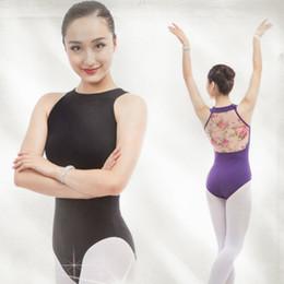 78e4e6ed5098d black dance wear gymnastics leotard dancewear ballet for women Backless  Sleeveless adult costumes cotton bodysuit sexy clothes
